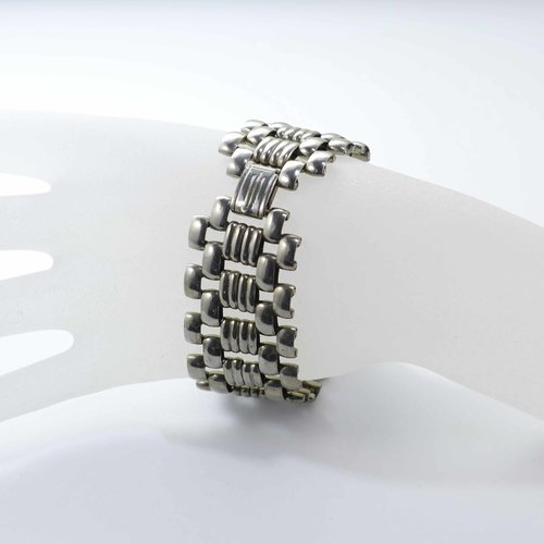 Chrome plated Art Deco bracelet