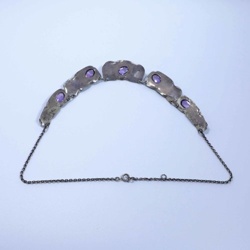 Handmade amethyst necklace from the 1930s