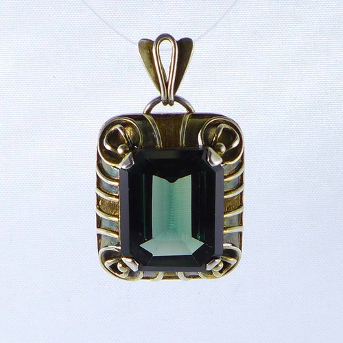 Pendant 1930s with tourmaline stone