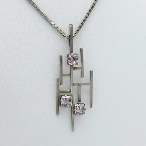 Pendant in the 1960s with Lavendelamethyst