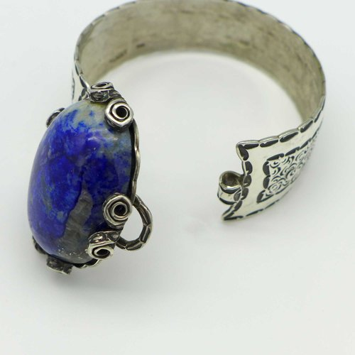 Helmut v. Kleist - Silver ring with lapis lazuli
