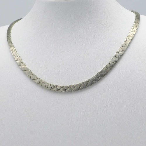 Snake necklace in silver from the 1970s
