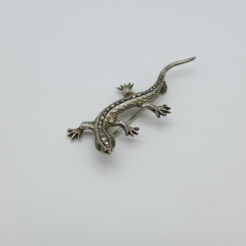 Salamander with marcasite