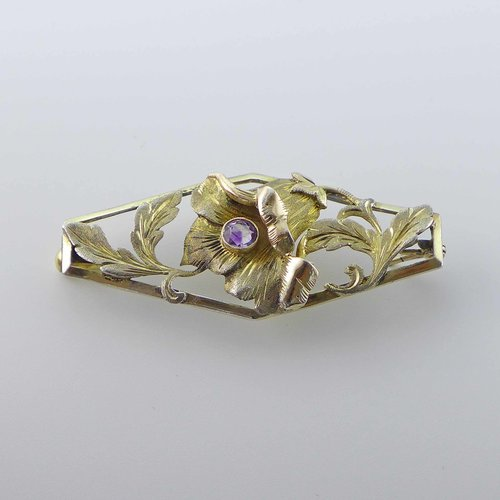 Amethyst brooch bellflower from the 1930s