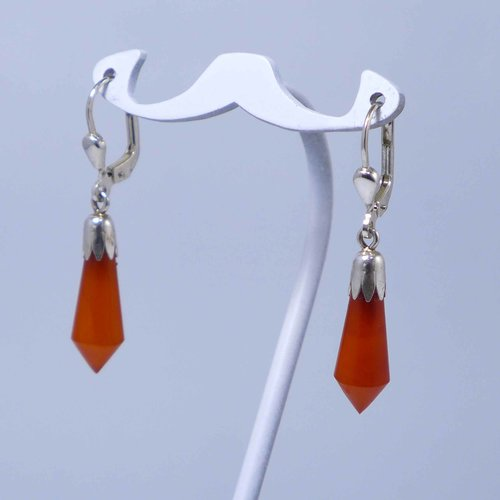 Butterscotch amber drop earrings
